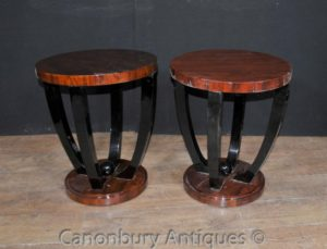 Coppia Art Deco laterale tavoli da cocktail Mobili