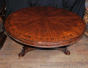 Regency Rosewood Centro Dining Table Diner Mobili