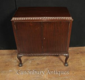 Antique Victorian Crosta Mogano petto gabinetto Pie
