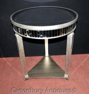 Big Art Deco Mirrored laterale tabelle Tabella Cocktail Mobili