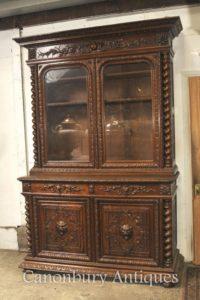 Grande Antico Oak Cabinet Libreria Agriturismo Barley Twist 1880