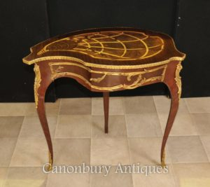 Impero francese Side Table a forma di gioielli Caso Trinket