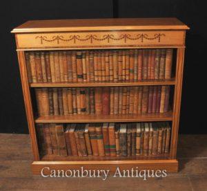 Regency anteriore aperto Libreria in satinwood Sheraton Librerie