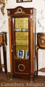 Alto Impero francese display Cabinet Bijouterie