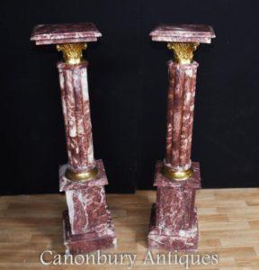 Tabelle di stand del basamento del marmo francese delle colonne frangetta