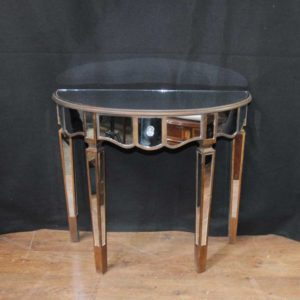 Tabella con consolle specchiata Tavoli in stile Art Deco Demi Lune