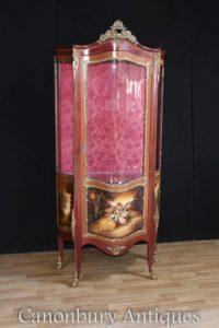 Gabinetto da parete Louis XVI Kingwood verniciato Vernis Martin Plaques
