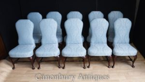 Impostare 10 posti a sedere imbottiti in stile vittoriano