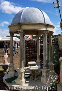 2,4m Gazebo in pietra da giardino con cupola conica