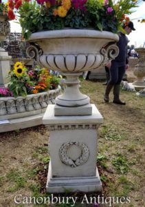 Large Chesterblade Garden Urn On Plinth Classic Bell