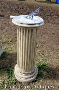 Pietra classica Doric Sundial Garden Art Time