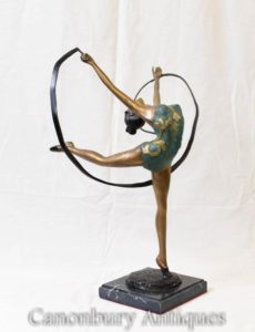 Art Deco Bronze Sash Dancer
