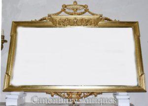 Grandi Regency Adams mantello specchio vetro dorato