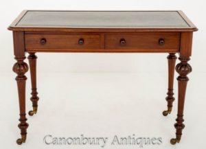 Scrittoio vittoriano antico da tavolo del 1860 circa