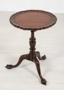 Antique Wine Table - Tavolini in mogano Chippendale