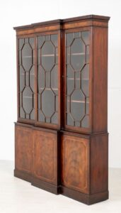 Hepplewhite Breakfront Bookcase Mahogany Antiques