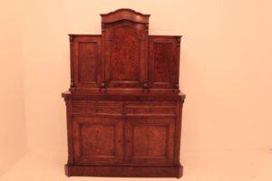 Mobiletto vittoriano - Cassapanca antica in noce del 1860 circa