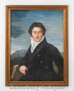 Pittura a olio scozzese Robert Burns Ritratto Poeta bardo nazionale Auld Lang Syne
