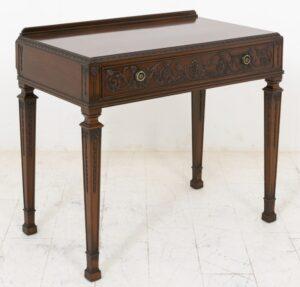 Tavolino Adams Consolle in mogano antico intagliato