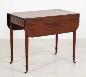 Tavolo Regency Pembroke - Tavolini antichi in mogano