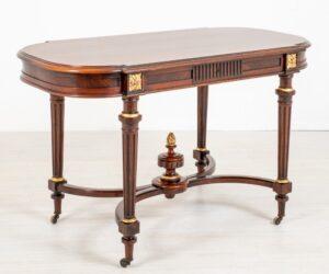 Tavolo da centro vittoriano in palissandro del 1870 circa