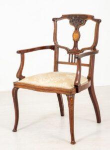 Poltrona Art Nouveau - Seduta antica a gomito 1910