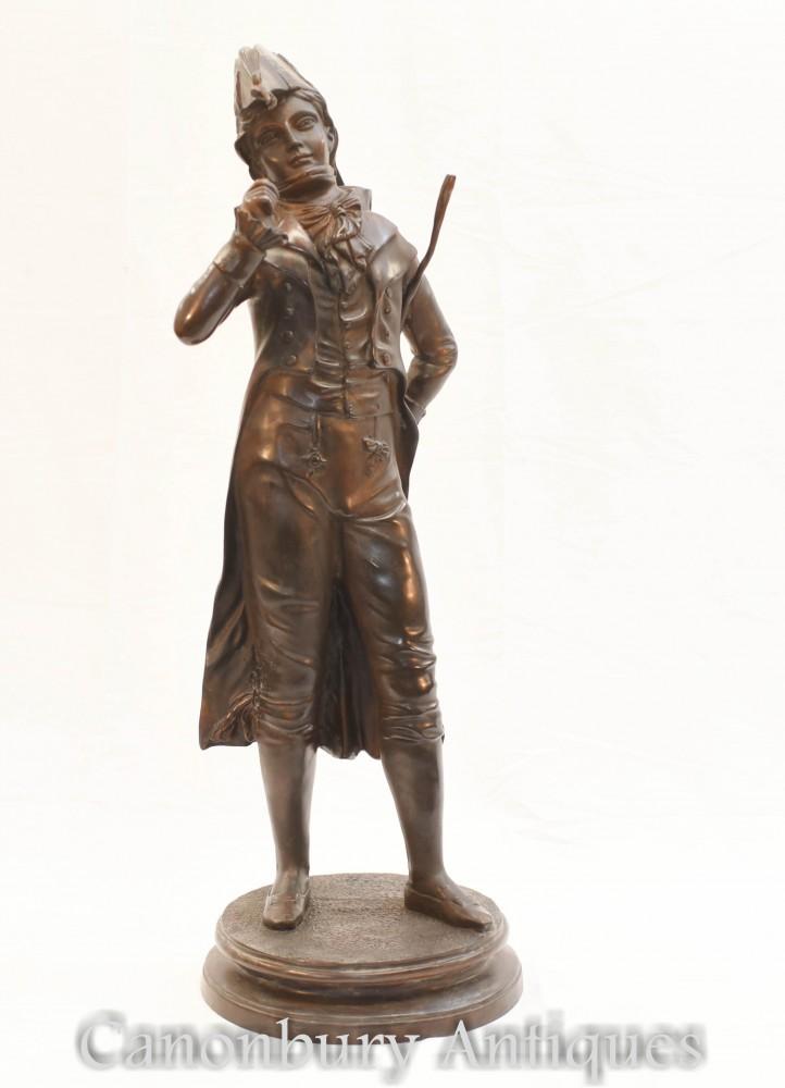 Statua Flaneur in bronzo francese - Statuetta Dandy