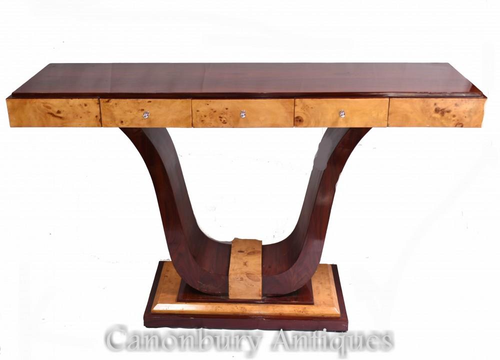 Ampia Consolle Art Déco - Interni Sala Vintage