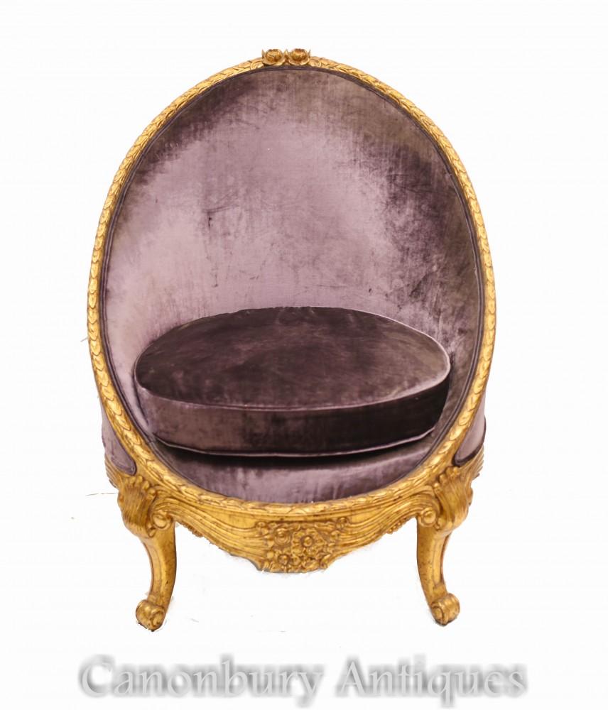 Poltrona con braccioli in stile impero dorato - Divano con seduta dorata