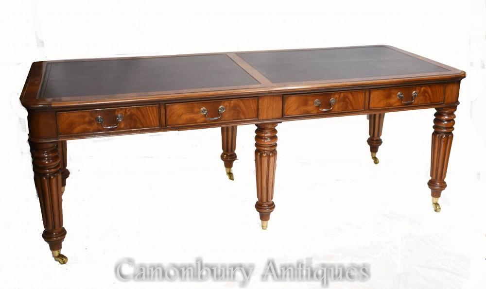 Scrivania Double Antique Partners - mogano Gillows 1860