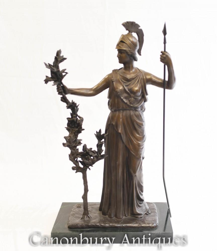 Statua in bronzo Britannia - Dea romana Gran Bretagna
