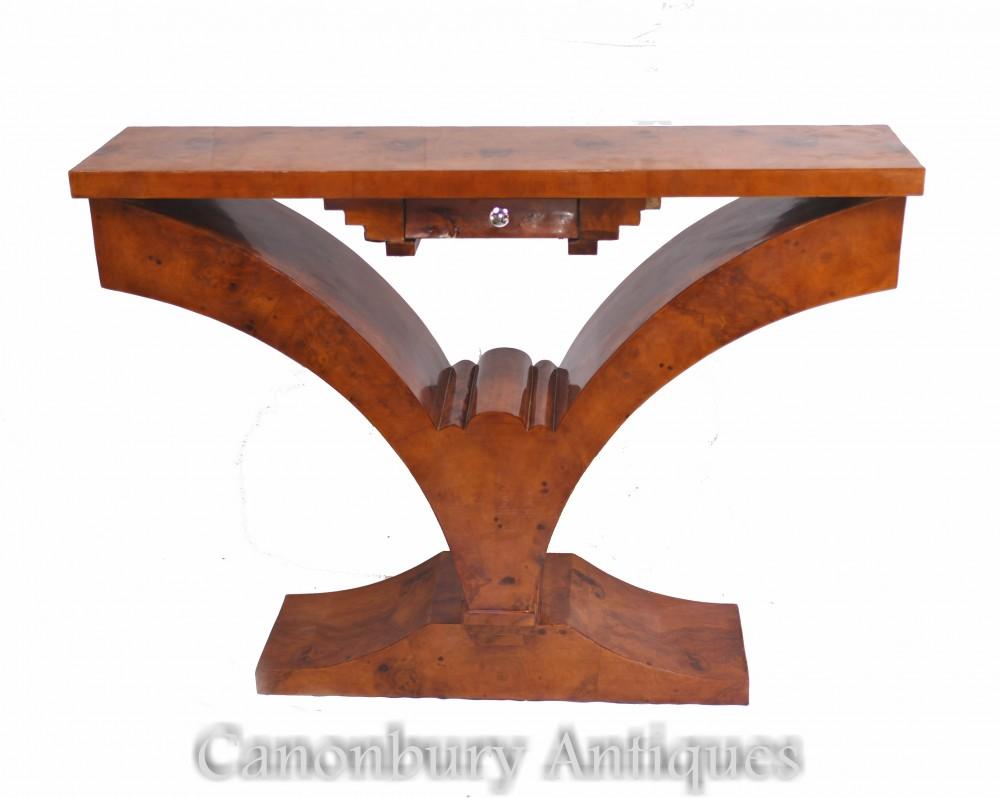 Tavolo da ingresso Art Déco - Consolle in noce